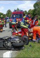 Verkehrsunfall mit Fahrrad und Roller